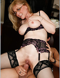 Horny Blonde Milf Rides Younger Lover