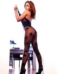 Remarkable girl models her se...
