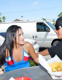 Latina fuck and facial