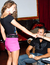 Skinny girl sex at club