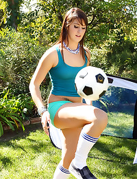 Soccer girl fucked outdoors
