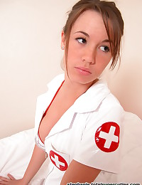 Total Super Cuties - Sinful nurse hottie teasing with her ultra slutty uniform