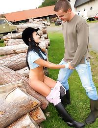 Teen horse riding girl fucked