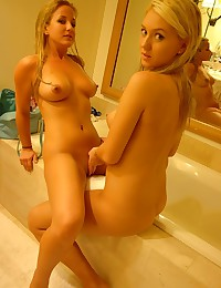 Alison Angel - Blonde dykes exposing their all natural bodies