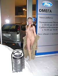 Outside hotties showing their...