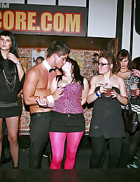 Very horny chicks love shagging random guys at the club