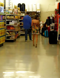 Exposing girl in public