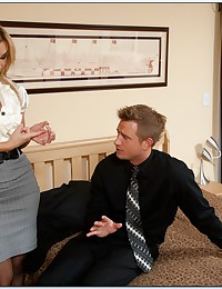 Milf business babe fucked