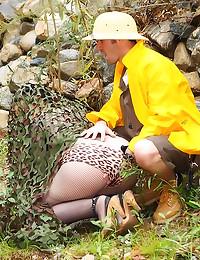 Chubby milf in fishnets fucke...