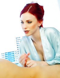 Stunning shaved milf redhead ...