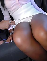 Black girl sucks white dick