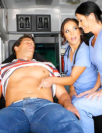 Man in ambulance fucked hard