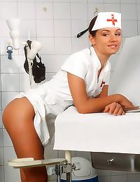 Small tits slender nurse nake...