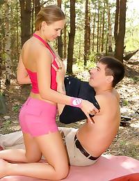 Yummy teen cutie camping fuck