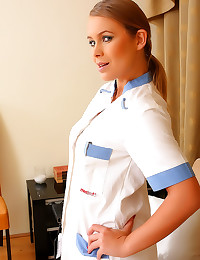 Hot nurse in lingerie