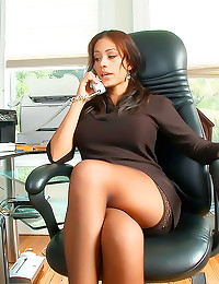 Big tits office slut