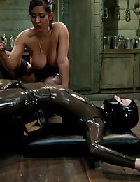 Horny Mistress Rides Strapon ...