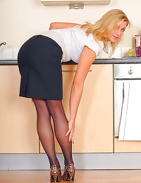 Milf business babe strip and ...