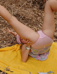Emily 18 - Naughty teen angel posing outdoors