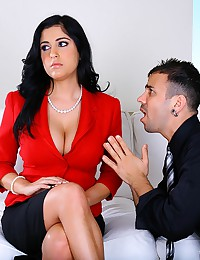 Voluptuous Office Babe Sucks Dick