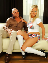 Perky tits schoolgirl has sex