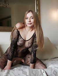 Raffaella is looking hot as hell in her crotch-less bodystocking.