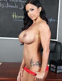 Teacher fondles big tits