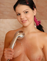 Naughty Daisy - Young girl with angelic face and perfect body takes a hot shower