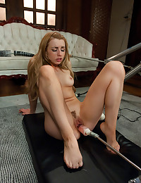 Young lady dildo play
