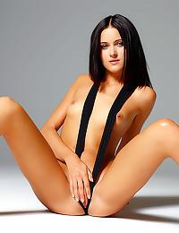 Pantyhose show her perfect ass