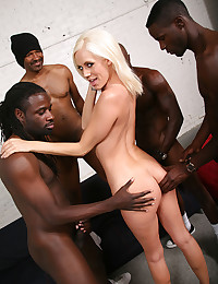 Kacey Ganged By Horny Black Men