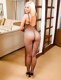 Fishnet body stocking is hot