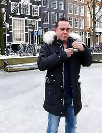 He fucks blonde Amsterdam hoo...