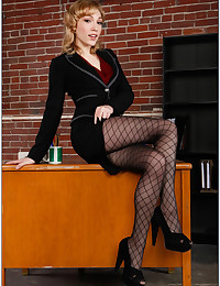 Naughty Teen Wears Office Attire
