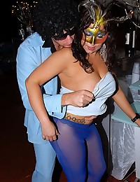 Masked Milf Fucked In The Club