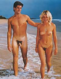 Vintage beach nudist