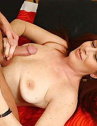 Saucy Redhead Enjoys Hard Fuck