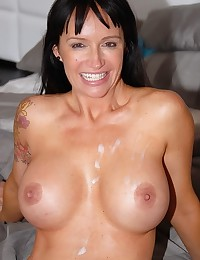 Busty Milf Angie Spreads For Dick