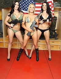 Three military sluts