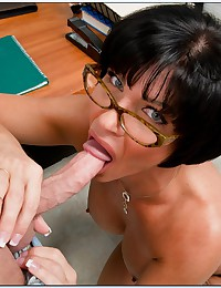 Milf teacher filled up