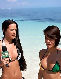 Banging a bikini girl hard