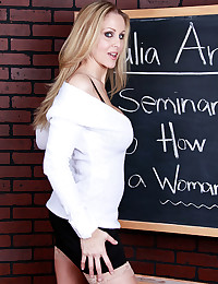 White sweater on milf pornstar