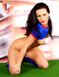 Babe strips from soccer unifo...