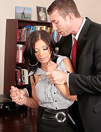 Hardcore sex for a business slut