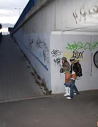 Railway station cock sucking babe fucked hard