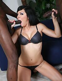 Two black dicks for naughty slut