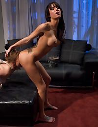 Sub girl licks mistress