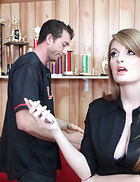 Fair Skinned Redhead Faye Smothers Cock
