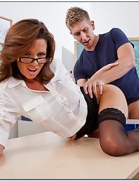 Seductive Milf Fucks Her Horny Student