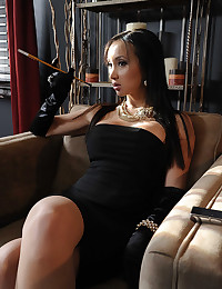 Asian Beauty Rides Thick Pole
